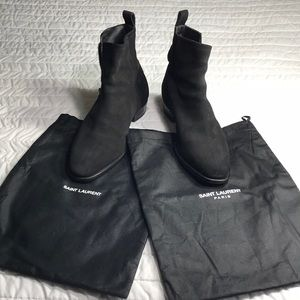 Saint Laurent black suede booties sz 39 EU- US 9